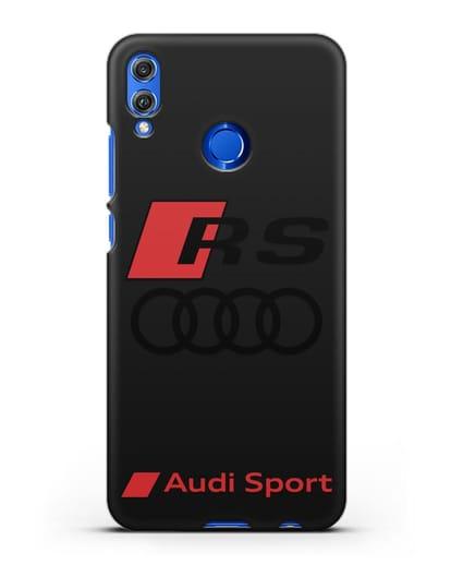 Чехол с логотипом Audi RS Sport силикон черный для Honor 8X