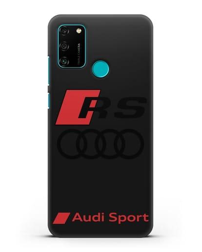 Чехол с логотипом Audi RS Sport силикон черный для Honor 9A