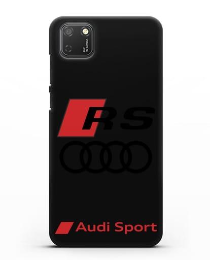 Чехол с логотипом Audi RS Sport силикон черный для Honor 9S