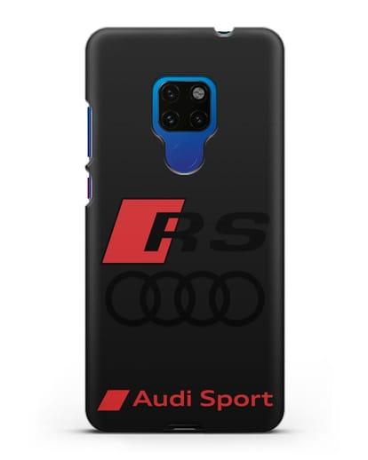 Чехол с логотипом Audi RS Sport силикон черный для Huawei Mate 20