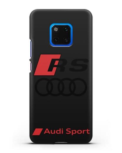 Чехол с логотипом Audi RS Sport силикон черный для Huawei Mate 20 Pro