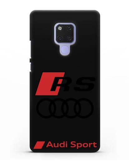 Чехол с логотипом Audi RS Sport силикон черный для Huawei Mate 20X