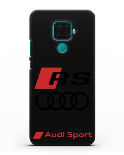 Чехол с логотипом Audi RS Sport силикон черный для Huawei Mate 30 Lite