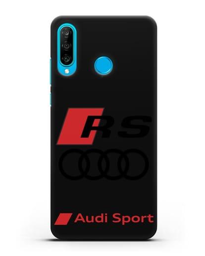 Чехол с логотипом Audi RS Sport силикон черный для Huawei P30 Lite