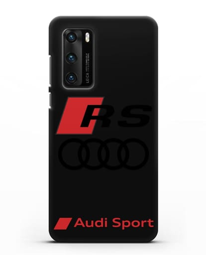 Чехол с логотипом Audi RS Sport силикон черный для Huawei P40