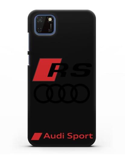 Чехол с логотипом Audi RS Sport силикон черный для Huawei Y5P