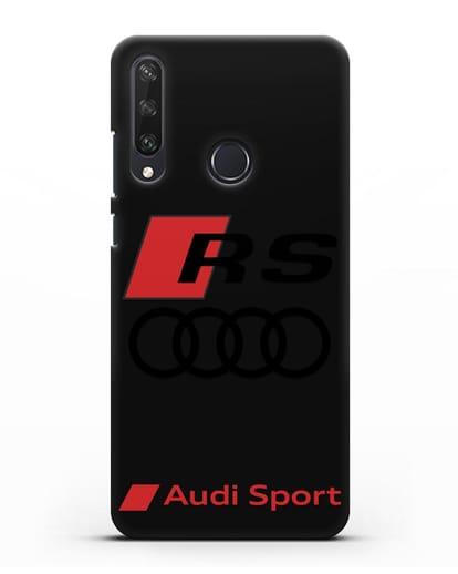 Чехол с логотипом Audi RS Sport силикон черный для Huawei Y6P