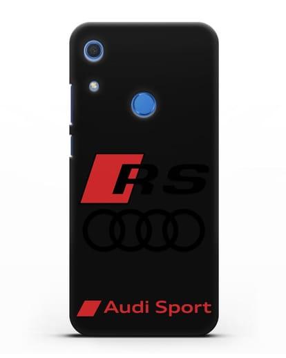 Чехол с логотипом Audi RS Sport силикон черный для Huawei Y6s