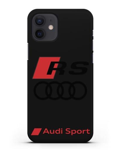 Чехол с логотипом Audi RS Sport силикон черный для iPhone 12