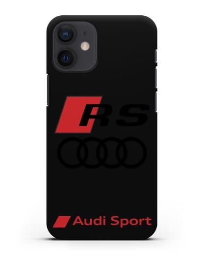 Чехол с логотипом Audi RS Sport силикон черный для iPhone 12 mini