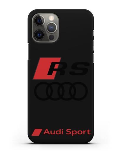 Чехол с логотипом Audi RS Sport силикон черный для iPhone 12 Pro