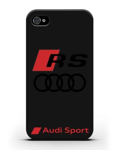 Чехол с логотипом Audi RS Sport силикон черный для iPhone 4/4s