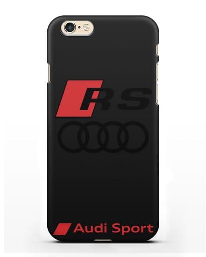 Чехол с логотипом Audi RS Sport силикон черный для iPhone 6