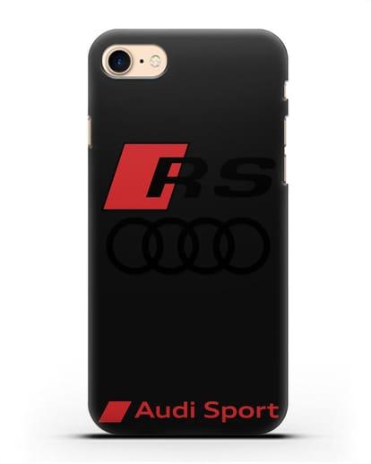 Чехол с логотипом Audi RS Sport силикон черный для iPhone 8