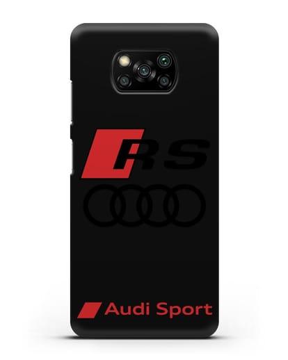 Чехол с логотипом Audi RS Sport силикон черный для Xiaomi Poco X3