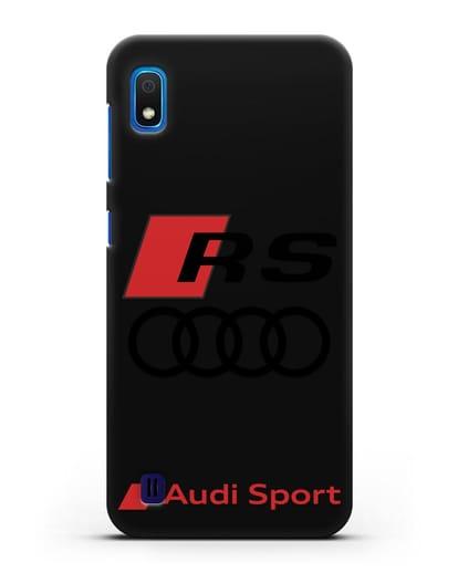 Чехол с логотипом Audi RS Sport силикон черный для Samsung Galaxy A10 [SM-A105F]