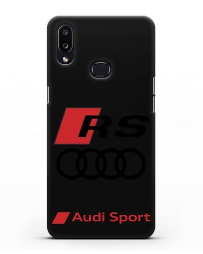 Чехол с логотипом Audi RS Sport силикон черный для Samsung Galaxy A10s [SM-F107F]