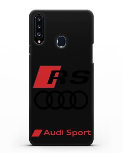 Чехол с логотипом Audi RS Sport силикон черный для Samsung Galaxy A20s [SM-A207FN]