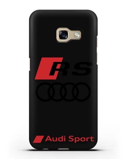 Чехол с логотипом Audi RS Sport силикон черный для Samsung Galaxy A3 2017 [SM-A320F]