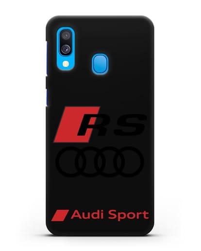 Чехол с логотипом Audi RS Sport силикон черный для Samsung Galaxy A40 [SM-A405F]