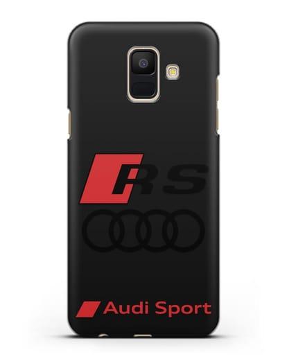 Чехол с логотипом Audi RS Sport силикон черный для Samsung Galaxy A6 2018 [SM-A600F]
