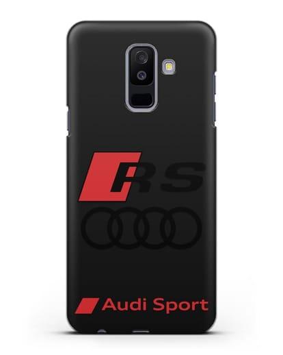 Чехол с логотипом Audi RS Sport силикон черный для Samsung Galaxy A6 Plus 2018 [SM-A605F]