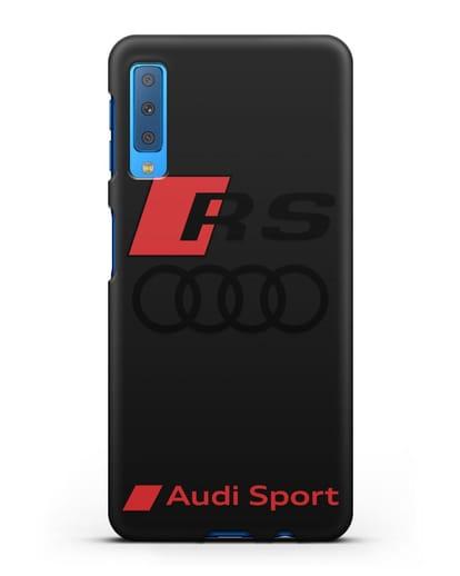 Чехол с логотипом Audi RS Sport силикон черный для Samsung Galaxy A7 2018 [SM-A750F]