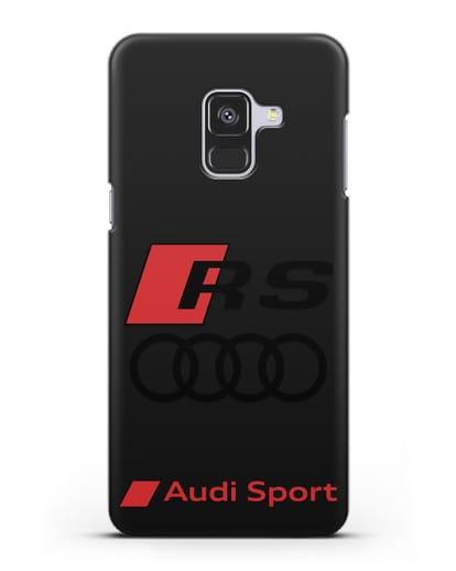Чехол с логотипом Audi RS Sport силикон черный для Samsung Galaxy A8 Plus [SM-A730F]