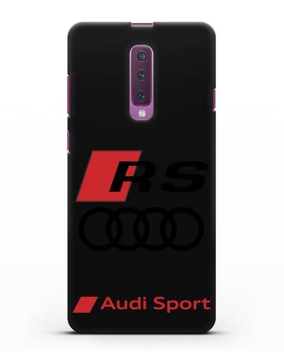 Чехол с логотипом Audi RS Sport силикон черный для Samsung Galaxy A90 [SM-A908N]