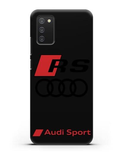 Чехол с логотипом Audi RS Sport силикон черный для Samsung Galaxy A02s [SM-A025F]