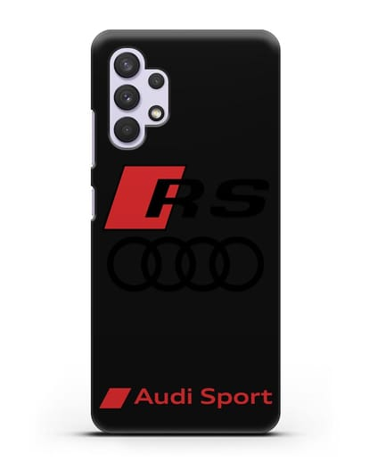 Чехол с логотипом Audi RS Sport силикон черный для Samsung Galaxy A32 4G [SM-A325F]