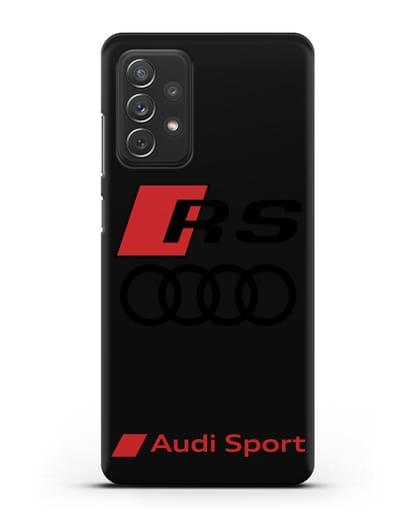 Чехол с логотипом Audi RS Sport силикон черный для Samsung Galaxy A72 [SM-A725F]