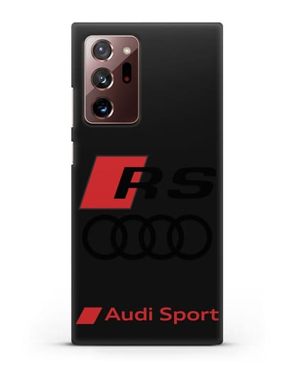 Чехол с логотипом Audi RS Sport силикон черный для Samsung Galaxy Note 20 Ultra [SM-N985F]