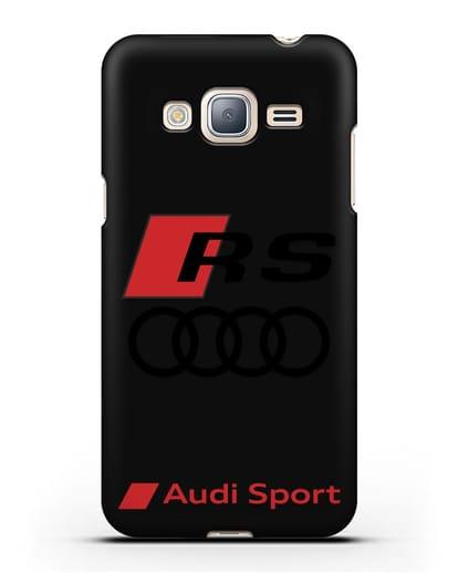 Чехол с логотипом Audi RS Sport силикон черный для Samsung Galaxy J3 2016 [SM-J320F]