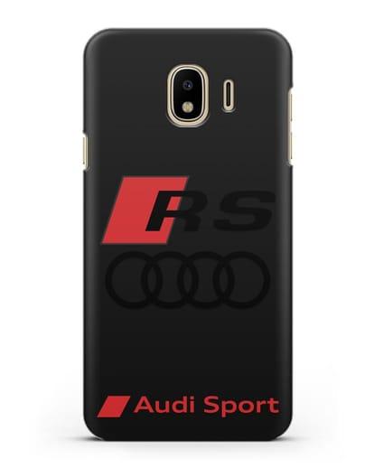 Чехол с логотипом Audi RS Sport силикон черный для Samsung Galaxy J4 2018 [SM-J400F]