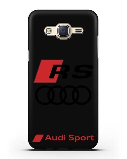 Чехол с логотипом Audi RS Sport силикон черный для Samsung Galaxy J7 2015 [SM-J700H]