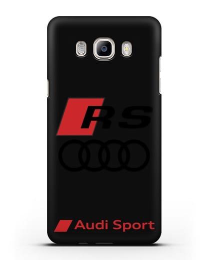 Чехол с логотипом Audi RS Sport силикон черный для Samsung Galaxy J7 2016 [SM-J710F]