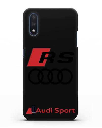 Чехол с логотипом Audi RS Sport силикон черный для Samsung Galaxy M01 [SM-M015F]