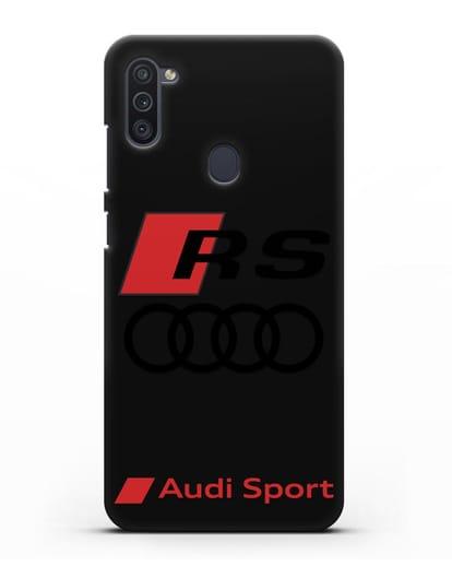Чехол с логотипом Audi RS Sport силикон черный для Samsung Galaxy M11 [SM-M115F]