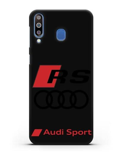 Чехол с логотипом Audi RS Sport силикон черный для Samsung Galaxy M30 [SM-M305F]