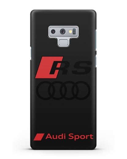 Чехол с логотипом Audi RS Sport силикон черный для Samsung Galaxy Note 9 [N960F]