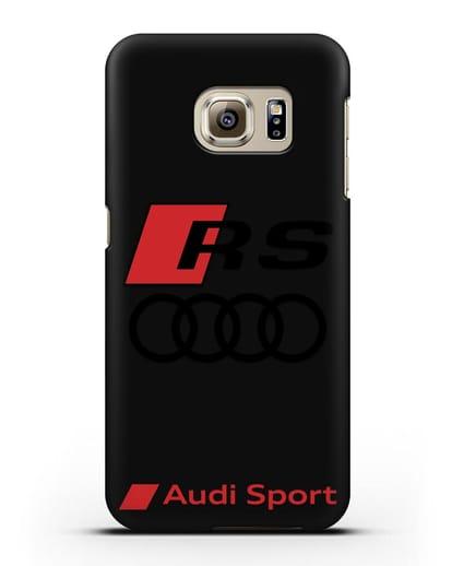 Чехол с логотипом Audi RS Sport силикон черный для Samsung Galaxy S6 Edge [SM-G925F]