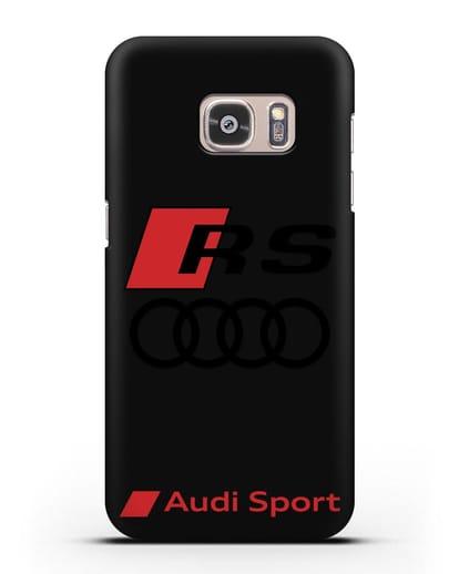 Чехол с логотипом Audi RS Sport силикон черный для Samsung Galaxy S7 Edge [SM-G935F]