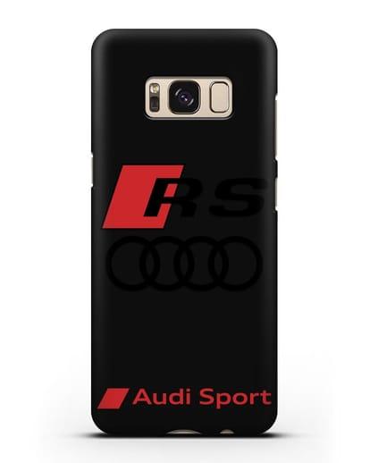 Чехол с логотипом Audi RS Sport силикон черный для Samsung Galaxy S8 [SM-950F]