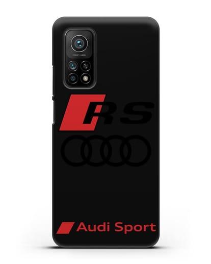 Чехол с логотипом Audi RS Sport силикон черный для Xiaomi Mi 10T
