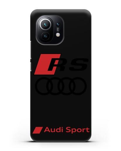 Чехол с логотипом Audi RS Sport силикон черный для Xiaomi Mi 11