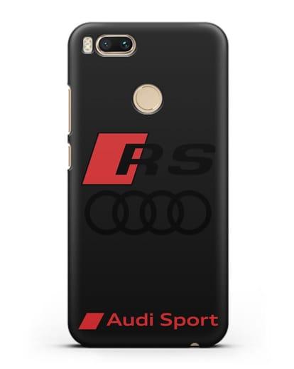 Чехол с логотипом Audi RS Sport силикон черный для Xiaomi Mi 5X