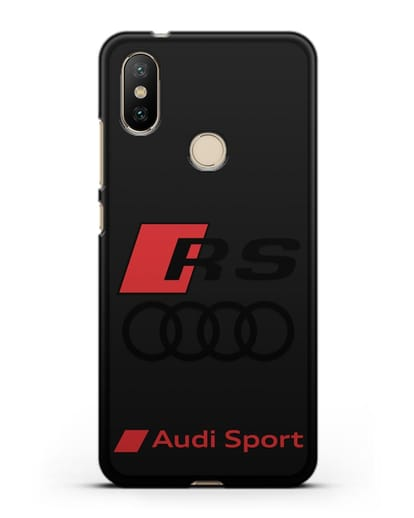 Чехол с логотипом Audi RS Sport силикон черный для Xiaomi Mi 6X
