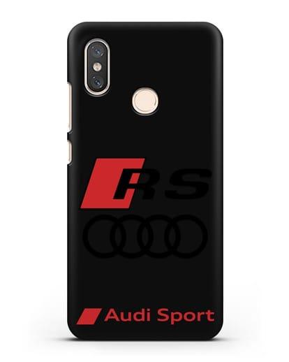 Чехол с логотипом Audi RS Sport силикон черный для Xiaomi Mi 8