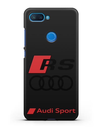 Чехол с логотипом Audi RS Sport силикон черный для Xiaomi Mi 8 Lite